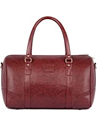 The Clownfish Unisex 30 Liter Leatherette Travel Duffle Luggage Bag Cabin Bag Weekender Bag (Brown)