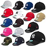 New Era 9forty Strapback Cap MLB New York Yankees #2504, White/Black, size_name: One-size-fitts-all