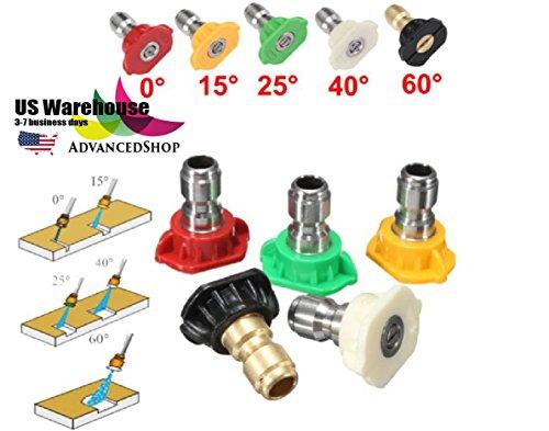 AdvancedShop 5 x 2,5 GPM Hochdruckreiniger, drehbare Turbo-Düsen