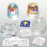 Schneekugeln mit Weihnachtsmotiv für Kinder - 4 Stück