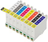 8 Pack Compatible Epson T0540 , T0541 , T0542 , T0543 , T0544 , T0547 , T0548 , T0549 1 Gloss Optimizer, 1 Photo Black, 1 Cyan, 1 Magenta, 1 Yellow, 1 Red, 1 Matte Black, 1 Blue for use with Epson Stylus Photo R1800, Stylus Photo R800. Ink Cartridges for inkjet printers. T0540 , T0541 , T0542 , T0543 , T0544 , T0547 , T0548 , T0549 © Cartridge Net