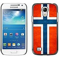 Omega Case Carcasa Funda Case Bandera - Samsung Galaxy S4 MINI ( Norway Grunge Flag )