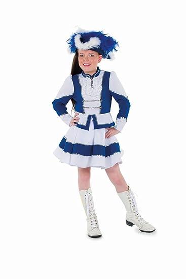 140  Kinder Kostüm Tanzmariechen Garde Uniform blau//weiß FUNKENMARIECHEN Gr