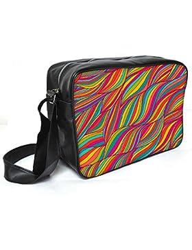 Snoogg Vector nahtlos Abstraktes Handgezeichnetes Muster Leder Unisex Messenger Bag für College Schule täglichen...