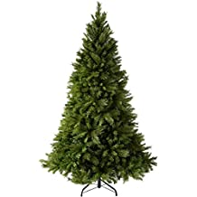 WeRChristmas Victorian Pine Christmas Tree with Easy Build Hinged Branches, 6 ft/1.8 m