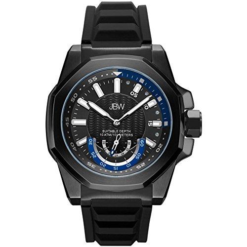 JBW Delmare Reloj de hombre diamante cuarzo 50mm correa de silicona J6359A