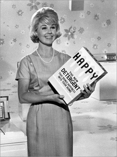 Poster 30 x 40 cm: was Diese Frau so Alles treibt, Doris Day, James Garner von Everett Collection - hochwertiger Kunstdruck, neues Kunstposter -
