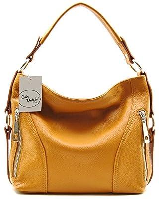 CUIR DESTOCK sac à main porté épaule et bandoulière cuir grainé modèle amber - SPECIAL BLACK FRIDAY