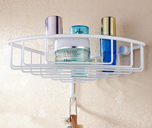 Alle Kupfer geröstet weiße Farbe mit einem einzigen Haken Ecke/Bad Badezimmer Anhänger/Garten Korb Korb Rack