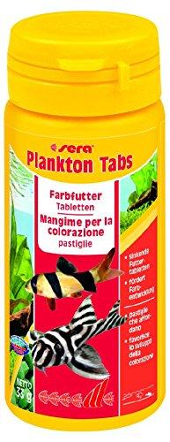 sera 00500 Plankton Tabs 50 ml - das Farbfutter aus sinkenden Futtertabletten für Welse, Garnelen und Schnecken (Tipp: Schneckenfutter im Süß- und Meerwasser)