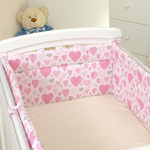 Nestchen mit Kopfschutz für 140x70 Bett 420x30cm M35 Bettumrandung Kantenschutz Baby Bett Schutz