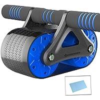 OMZBM Rueda De Rodillo Doble AB Ultra Ancha AB Carver Pro Roller con Colchoneta De Fitness para Fortalecer Abdominales Y Ejercicio Básico De Tono, Rebote Automático,Blue