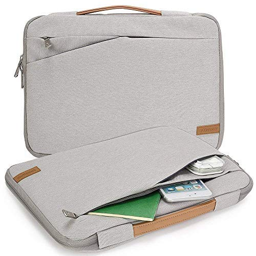 kingslong 43,2-43,9cm-Gepolstertes Laptop Sleeve Tasche Computer pockettablet Aktentasche Tragetasche für Acer/ASUS/Dell/Lenovo Grau Grau -