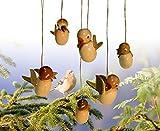Baumbehang Vogel hängend natur, einzeln 5cm NEU Strauchbehang Osterschmuck Ostern