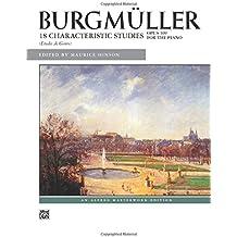 Burgmüller - 18 Characteristic Studies, Op. 109 (Alfred Masterwork Editions)