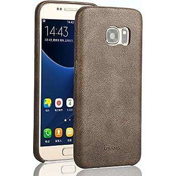 Samsung Galaxy S7 Edge, USAMS [ BOB Series ] Soft PU Leather Back Case Cover for Samsung Galaxy S7 Edge ( Brown )