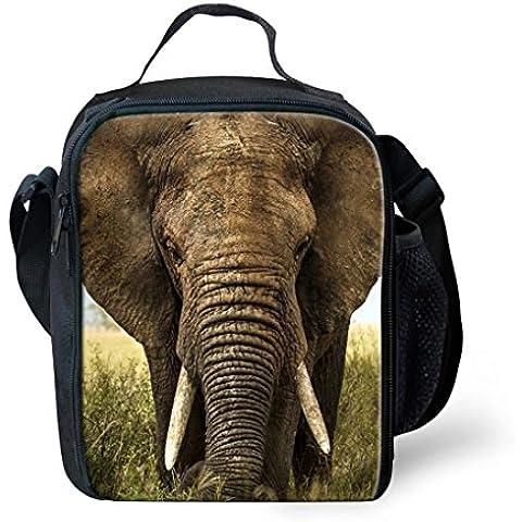 orrinsports 3d stampa borsa termica Borse caldo e freddo per bambini Elephan