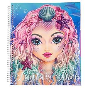 Depesche 10440 Malbuch, TopModel Create Your Fantasy Face, ca. 24 x 21,8 x 1,8 cm, bunt