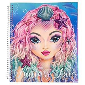 Depesche 10440 - Libro de Colorear TopModel Create Your Fantasy Face, Aprox. 24 x 21,8 x 1,8 cm, Multicolor
