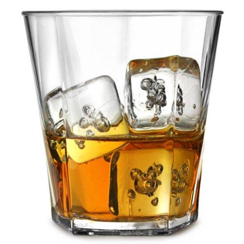 Elite Penthouse verres en Polycarbonate Rocks 9 ml et 255 ml-Set de 4 Pierres en plastique réutilisables plastique, verres droits réutilisables en plastique incassable