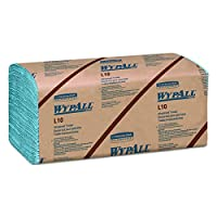 Kimberly-Clark Professional Wypall L10 Disposable Wipers (05120), Windshield Wipe, 2-PLY, Banded, Blue, 16 Packs / Case, 140 Wipes / Pack, 2, 400 Sheets / Case
