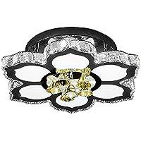 CNMKLM LED Creative fiori di cristallo di luce da soffitto seduta romantica camera da letto Lampade da soffitto sala da pranzo illuminazione a soffitto