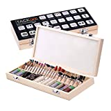Set di accessori con scatola di legno, Tacklife RTXA35 238 pezzi Set di accessori multifunzione per strumento multifunzione Accessorio universale Gambo con 3,2 mm