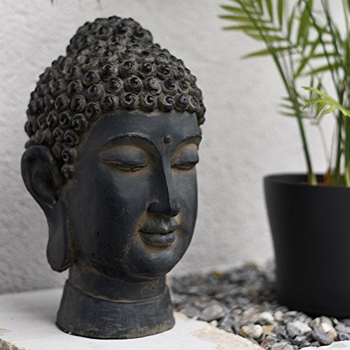 decoration & design Buddha Kopf Statue 33cm Höhe