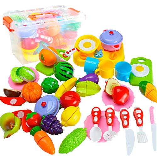 3372a84e36 TIMEMEAN Taglio Frutta Verdura Pretend Gioca a Giocattoli educativi per  Bambini