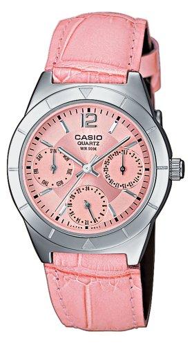 Casio Collection – Reloj Mujer Analógico con Correa de Cuero Auténtico – LTP-2069L-4AVEF
