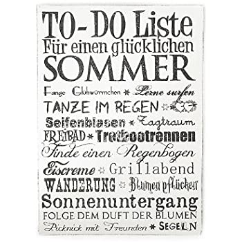wandtafel schild vintage shabby dekoschild holzschild to do liste f r einen gl cklichen sommer. Black Bedroom Furniture Sets. Home Design Ideas