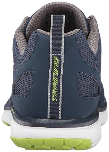 Basket, couleur Blue , marque SKECHERS, modÚle Basket SKECHERS 51543S SUPERSET Blue Bleu marine/vert citron
