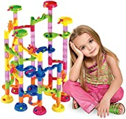 Marble Run Set 105 Pcs -Marble Maze Game Construction Building Toy Creative STEM Toy for 4 5 6 7 Year Girls an