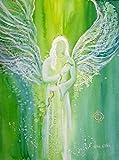 silwi-art***** Engelbilder Erzengel Raphael 20 x 28 cm Engelkarte xl, Praxisdeko, Schutzengelbild archangel Raffael, guardian Angel Poster