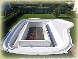 40 m² PET Teichvlies Schutzvlies Folienschutz Weiß Premium Reißfest Profi Qualität 300g/m² Vlies Teich 2 m Breite x 20 m 1,86 Euro/ m²