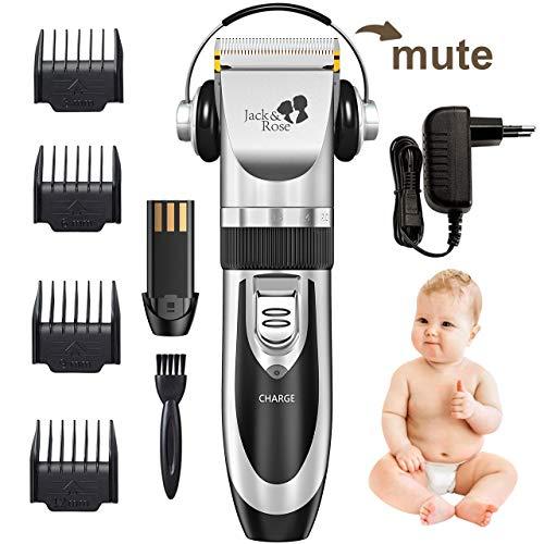 Haarschneidemaschine, Jack & Rose HaarschneiderElektrische Haarschneider Maschine Wiederaufladbare Profi Kabellose Haarscherer Haartrimmer Set mit 4 Kammaufsätze für Kinder und Herren -