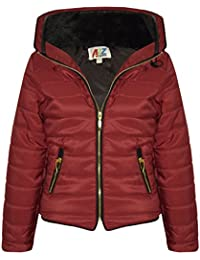 5ca7ef3b4 A2Z 4 Kids® Girls Jacket Kids Stylish Padded Puffer Bubble Faux Fur Collar  Quilted Warm