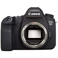Canon EOS 6D Body Only, Wi-Fi Version - 20.2 MP, SLR Camera, Black (6D W)