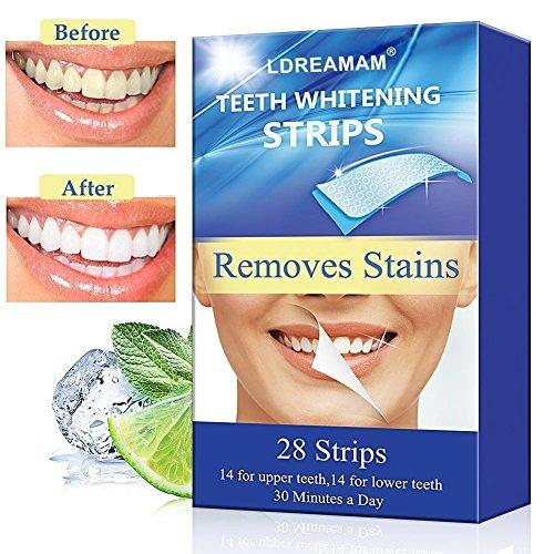 Teeth Whitening Strips,Teeth Bleaching,Teeth Whitening Kit,Teeth Whitening Zero Peroxide Strips Advanced Double Elastic Gel Strips Kit 28 Pcs 14 Treatments for Teeth Care,Mint Flavor Test