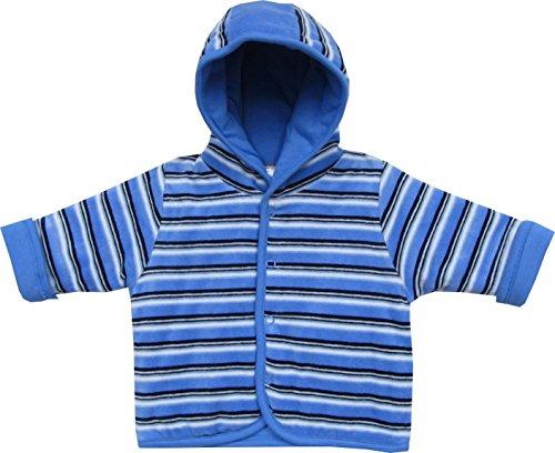 Schnizler Baby - Jungen Jacke Kapuzenjacke Nicki geringelt, Gr. 56, Blau (original 900)