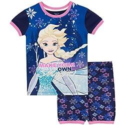 Disney Pijamas de Manga Corta para niñas Il Regno di Ghiaccio Frozen Azul 3-4 Años
