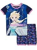 Disney Mädchen Frozen - Die Eiskönigin Schlafanzug Blau 110