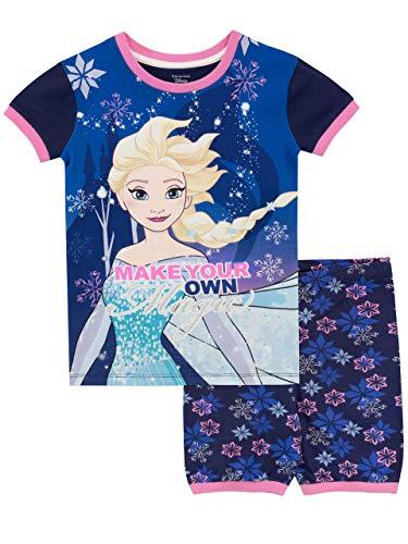 Disney Mädchen Frozen - Die Eiskönigin Schlafanzug Blau 104 -