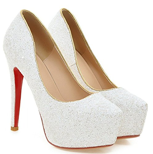 YE , chaussures compensées femme Blanc - Blanc