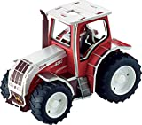 3D Puzzle Kit Tractor to assemble Steyr CVT 6240 62 parts 1:32 picture instructions mechanical model building set educational farm toy kids 8+ STEM jigsaw puzzle gift Christmas Birthday Tronico