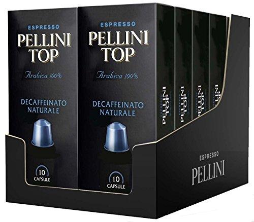 Pellini top arabica decaffeinato naturale (12 astucci da 10 capsule - totale 120 capsule), compatibili nespresso