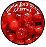 100g - Jumbo Red Coloured Glace Cherries