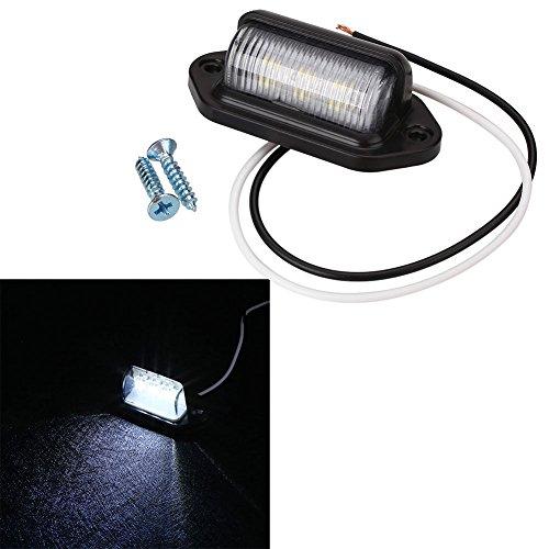6LED 10-30 V Lkw Kennzeichenbeleuchtung Rücklicht Schritt Lampe Tag Licht Weiß Für Boot RV Motorrad Trailer Lkw Caravan