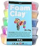 Hdk-Versand Foam Clay® Selbsthärtende Modelliermasse Bastelsets (Basic 10x35g)