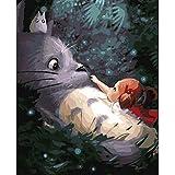 Liliya& Lienzo Digital 40x50cm DIY Pintura al óleo para niños, Adultos y dibujantes con Pinceles y Pinturas acrílicas - Big Mouse Chinchilla sin Marco